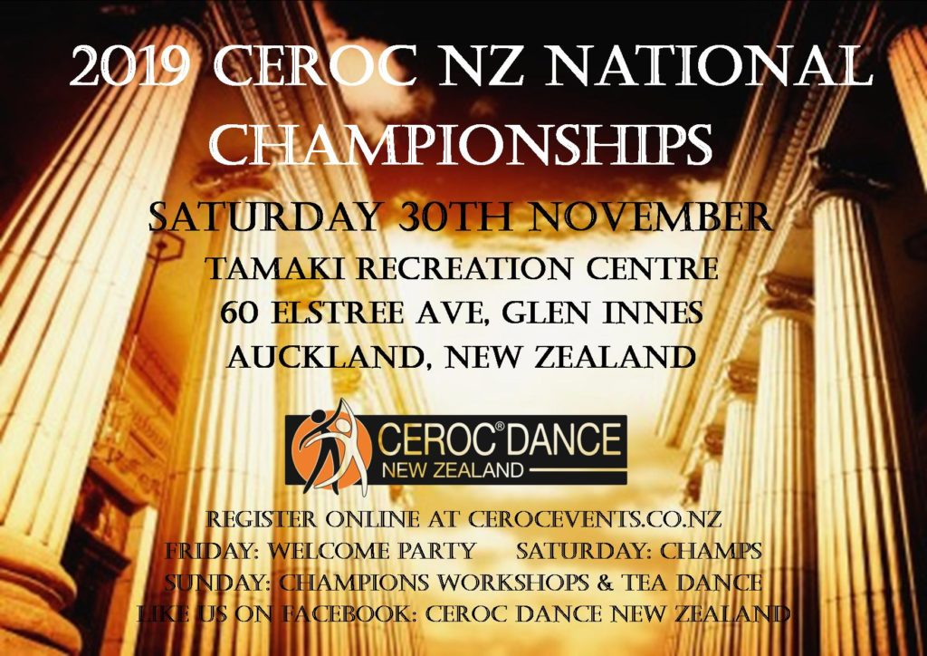 Ceroc Dance NZ Nationals Championships @ Tamaki Recreation Centre | Auckland | Auckland | New Zealand