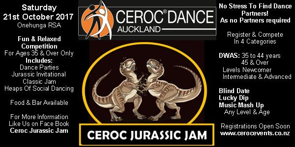 Ceroc Jurassic Welcome Dance Party @ Onehunga RSA   Auckland   Auckland   New Zealand